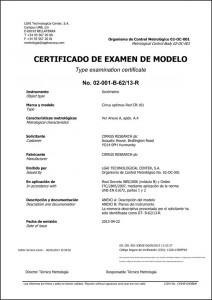 600xAPplus-CR161-optimus-UNE-EN-61672-approval-certificate